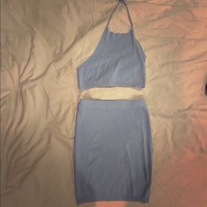 Dresses & Skirts - Two piece baby blue sexy outfit